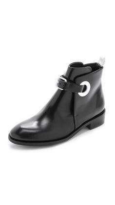 le cuir noir の tendance chaussures acne studios allea flat boots shoes  black leather 69c6ba2ba58