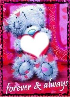 Montage photo forever & always - Pixiz Teddy Bear Quotes, Teddy Bear Images, Teddy Bear Pictures, Tatty Teddy, Teddy Beer, Images Emoji, Cute Couple Gifts, Emoji Love, Blue Nose Friends