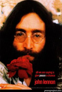 All we are saying is give peace a chance - John Lennon - Postcard  http://www.peaceproject.com/postcards