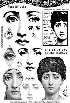 Woman Face, eyes, portrait- set of unmounted rubber stamps by Cherry Pie - Plate 45 Woman Face eyes portrait set of unmounted rubber stamps by Face Illustration, Illustrations, Collage Sheet, Collage Art, Pies Art, Pintura Country, Art Graphique, Pearl Jam, Digi Stamps