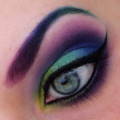 Too gorgeous! Lisanne was inspired by a long-tailed sylph to create this exquisite look using mostly Sugarpill eyeshadows. Those eyebrows! :-O