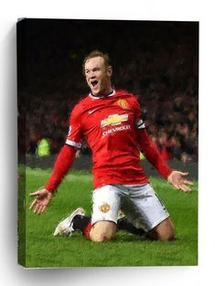 Football Players Rooney Manchester United Creative Canvas Premier League FC Football Clubs Custom Or Winter Outfits, Summer Outfits, Casual Outfits, Manchester United Premier League, Steven Knight, Royal Marines, Summer Crop Tops, British Army, Teenager Outfits