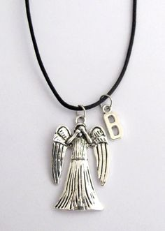 Doctor Who Inspired Weeping Angel Pendant Weeping Angel Pendant Necklace Dr Doctor Who Inspired Don& Blink Angel Necklace, Lariat Necklace, Pearl Bracelet, Pendant Jewelry, Jewelry Sets, Fine Jewelry, Pendant Necklace, Jewelry Necklaces, Jewellery
