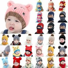 Clearance Sale Cute Baby Girls Boys Stripe Bowknot Toddlers Knitted Cotton Sleep Cap Headwear Hat Fineser Baby Hat