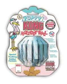 Kong Puppy Activity Ball Medium Green * Hurry! Check out this great product (This is an amazon affiliate link. I may earn commission from it)
