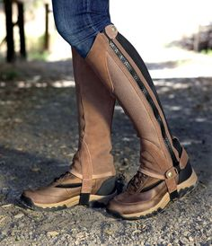 Ariat. Terrain shoes. Half chaps. Nice!