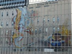 Mural at the Mission Old Brewery, Montreal, by Jasmin Guerard Alie and Simon Bachand #Montreal #streetart