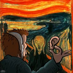Kids Routine Chart, Vincent Willem Van Gogh, Dream Pictures, Van Gogh Art, Scream, Funny Art, Art Pages, Caricature, Art History
