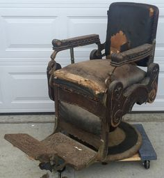 Antique KOKEN Barber Chair Hydraulic Schematic