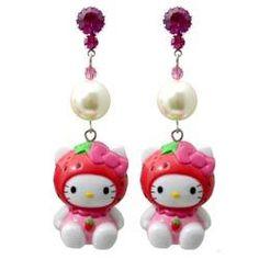 Tarina Tarantino Pink Head (Hello Kitty) earrings.