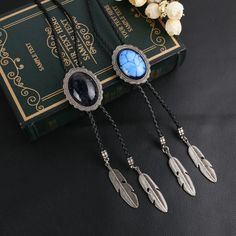 2017 Exquisite Cowboy Style Blue Rhinestone Bolo Tie Shoestring Neck Tie  Vintage Jewelry Bolo Necklace Ties for Men or Women
