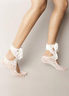 Bridal wedding dance shoes slippers White Bridal Party by byrosali, $24.00