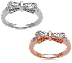 18k Rose Gold Plated and Sterling Silver Diamond Stackable Bow Ring (1/3 cttw, I-J Color, I2-I3 Clarity), Set of 2, Size 7 Amazon Curated Collection,http://www.amazon.com/dp/B006ZEB554/ref=cm_sw_r_pi_dp_HY1Ctb1BTCGDQ0FM