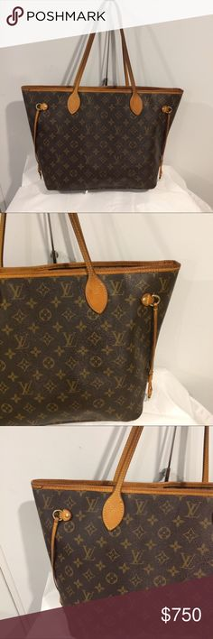 Authentic Louis Vuitton neverfull MM monogram Very good preowned condition.free authentication from posh .no trades Louis Vuitton Bags Shoulder Bags