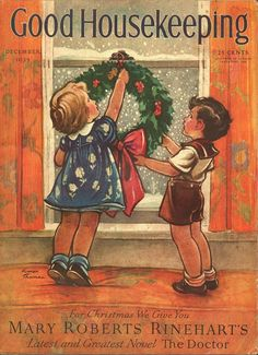 Good Housekeeping Christmas cover, December 1935 * 1500 free paper dolls Christmas gifts artist Arielle Gabriels The International Paper Doll Society also free paper dolls The China Adventures of Arielle Gabriel *