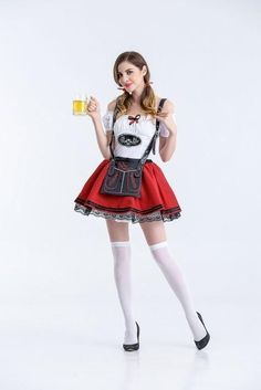 b21449841 Bavarian Ocktoberfest Women s Short Dress Costume M-XL