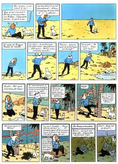 Tintin - weird seeing it in French!