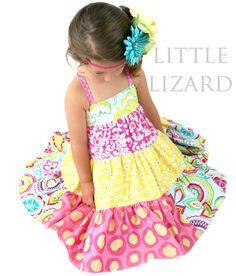 Ellie Tiered Twirly Dress Sewing Pattern  by littlelizardking, $8.50