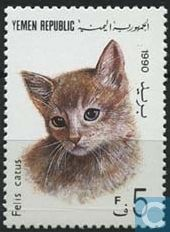 Postage Stamps - Yemen - Republic - House Cats