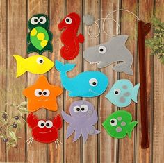 Felt Magnetic Fishing Game Kids Magnet Fishing Set Quiet toy
