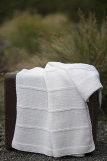 Stripe baby blanket