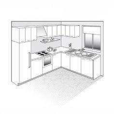 Plan de cuisine en L