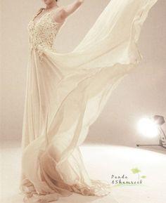 Denise /wedding gown/bridal dress/evening dress/prom dress/custom made/all size/lace/silk/elegant on Etsy, $675.07 AUD