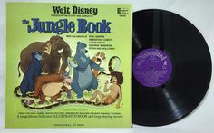 Walt #Disney's THE JUNGLE BOOK 1967 gatefold #Vinyl LP 3948 + 11 page booklet