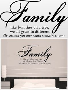 Family Like Branches On A Tree vinyl lettering wall sayings home art decor - **Please Note*** This is an original from WALL SAYINGS VINYL LETTERING. If you are not purchasing from WALL SAYINGS VINYL LETTERING then you are purchasing a knock off and we cannot guarantee the qual... - Wall Stickers & Murals - Home & Garden - $1.48