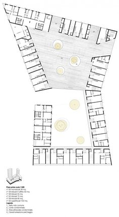 Image 7 of 16 from gallery of Social Housing in Milan / StudioWOK. second level plan Social Housing Architecture, Co Housing, Concept Architecture, Architecture Design, Hotel Floor Plan, Floor Plan Layout, Hospital Design, Ground Floor Plan, Concept Diagram