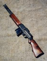 """B.A.R. - Browning Automatic Rifle  Shortened or what is called """"Whip-it"""" as to be carried conceled under a trench coat."""