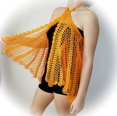 SEE THIS SUNNY Orange blouse shawl skirt dress for swimsuit by vyldanstyl on Etsy AND MORE BEACH ITEMS TREASURED HERE....
