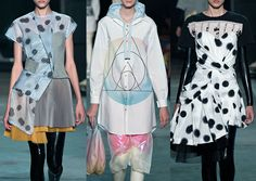New York Womenswear Print Highlights Part 2 – Spring/Summer 2015 catwalks  - Marc by Marc Jacobs from Patternbank: Soft Focus Polka Dot – Occult Geometry – Bold Graphic Slogan – Pastel Blur – Printed Textural Fabrics – Dance Culture – Fabric Manipulation – Typographical Prints – Fabric Mixes – Bold Brights – Pleats and Folds