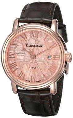 Earnshaw Men's ES-0026-03 Meteorite Analog Display Swiss Quartz Brown Watch - http://yourperfectwatch.com/earnshaw-mens-es-0026-03-meteorite-analog-display-swiss-quartz-brown-watch/
