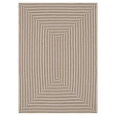 In/Out Beige Area Rug