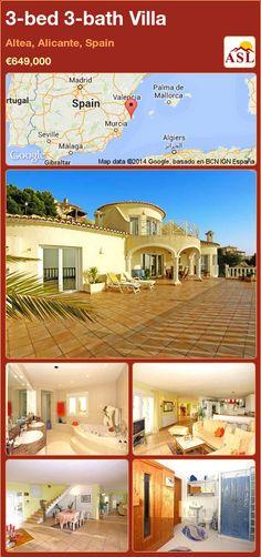 3-bed 3-bath Villa in Altea, Alicante, Spain ►€649,000 #PropertyForSaleInSpain