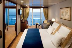Azamara Pursuit Cruise Ship Cabin And Suite Cabins Veranda Hero Club Stateroom Norwegian Line . Crucero Royal Caribbean, Best Cruise Ships, Best Boutique Hotels, Cruise Holidays, Cheap Cruises, Cruise Destinations, Cruise Travel, Places, Room