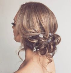 Messy Low Updo For Fine Hair
