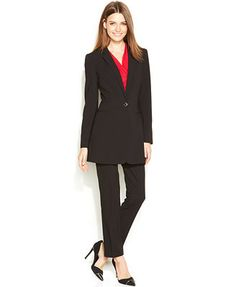 Long Jacket / Pant Suit By Kasper (for Women) | Ladies suits, Long ...