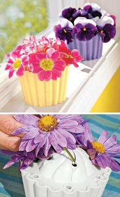 Cupcake Vase - too cute!
