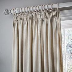Murmur Eva Stripe Pair of Lined Curtains Linen | Bedeck Home Striped Curtains, Lined Curtains, Striped Linen, Types Of Curtains, Curtain Styles, Diamond Pattern, Stripes Design, Pairs, Bedroom