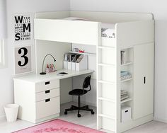 IKEA STUVA/FÖLJA Loft bed combo w 4 doors White cm With this loft bed you get a complete solution for your child's room – including .
