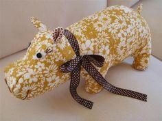 DIY Sew~ Henrietta the Hippo - fabric