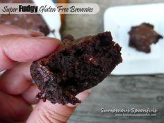 Super Fudgy Gluten Free Brownies ~ Sumptuous Spoonfuls #chocolate #brownie #recipe #glutenfree