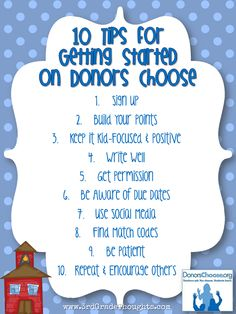 3rd Grade Thoughts: 10 Tips to Get You Started on DonorsChoose.org