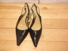 Anne Klein Akmakaya Womens Strap Back Point Toe Heels Black Size 8M #AnneKlein #Strappy