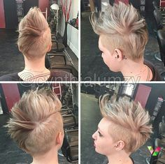 Faux Hawk Frisuren, asymmetrische Frisuren, brave Pixie-Frisuren, perfekte Locken …, 24 Kurzhaarfrisuren für jeden etwas dabei ... - Neue Frisur