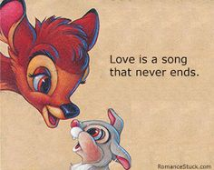 The largest number of Disney love quotes. These cute love quotes from Disney movies include the very best Disney movie love quotes to warm your heart. - www.romancestuck.com/quotes/disney-quotes.htm