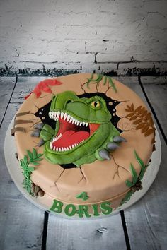dinosaur cake 6 birthday - Google Search