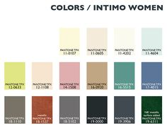 Lenzing Color Trends Autumn/Winter 2014/15 - Womens' Lingerie/Intimate Apparel